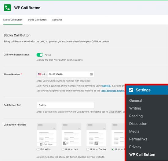 wpcallbutton netking webdesign
