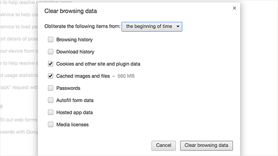 clearbrowsingdata netking