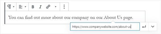 block editor paste url netking